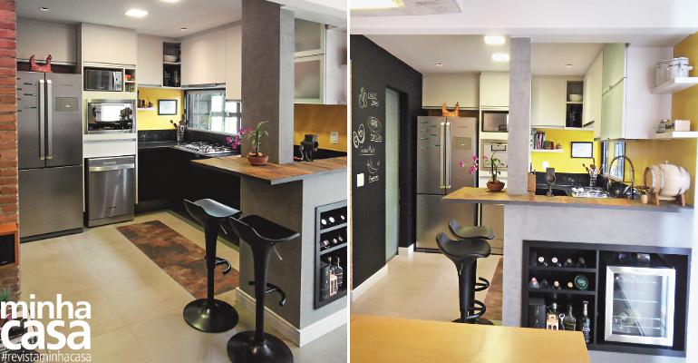 Cozinha integrada e ventilada