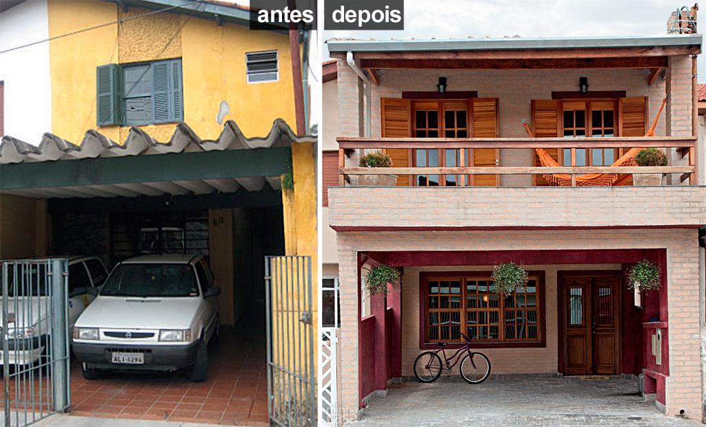 Casa geminada ganha fachada inteiramente nova