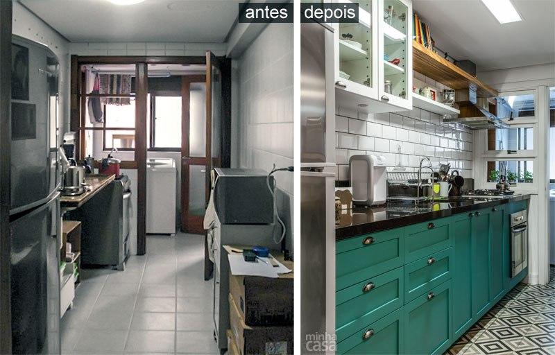 Cozinha integrada em estilo europeu